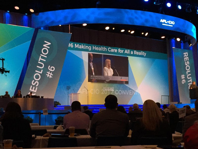 #OPEIU believes health care must be a reality for all! #aflcio17 #opeiunursescouncil