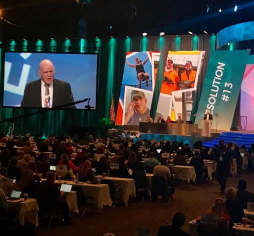 #OPEIU President Richard Lanigan presents a resolution to support paid leave for all workers, which was passed unanimously. #aflcio17